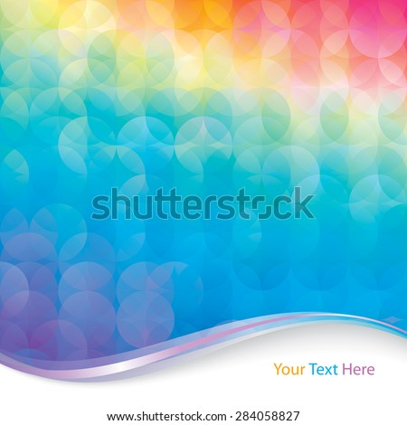 Abstract colorful circle pattern background.  - stock vector