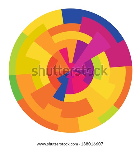 Abstract colorful circle, vector - stock vector