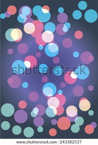 Abstract colorful circular background. vector illustration - stock vector