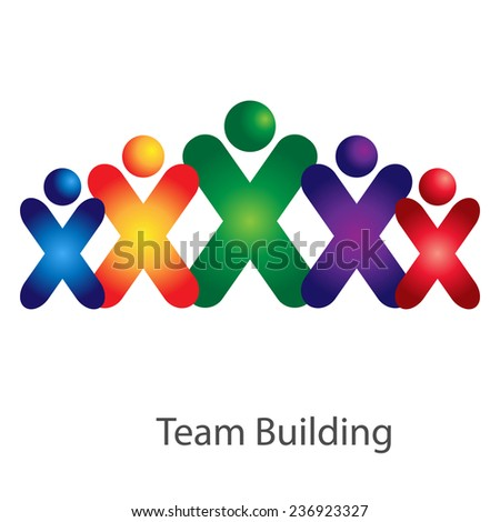 Abstract colorful community people icons. Team work idea. - stock vector