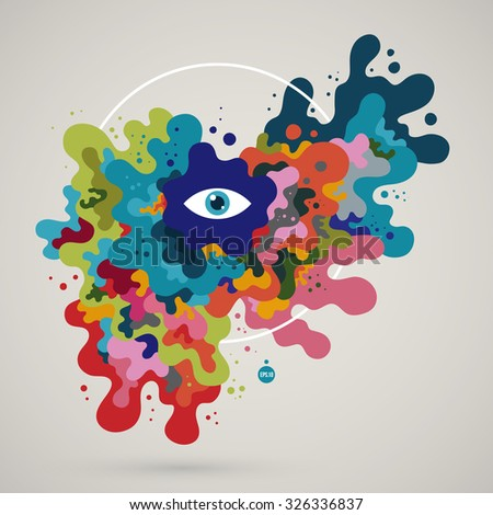 Abstract colorful creature. EPS10 - stock vector