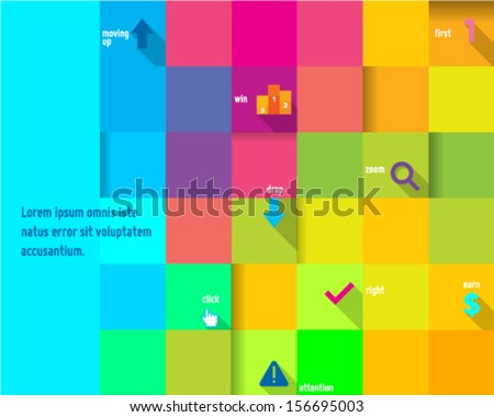 Abstract Colorful Cube Design Template - stock vector