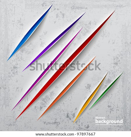 Abstract colorful cut paper. - stock vector