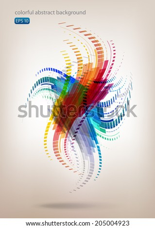 Abstract colorful dancing background - stock vector