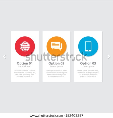 Abstract colorful design template with text space | infographics 3 options | business layout - stock vector