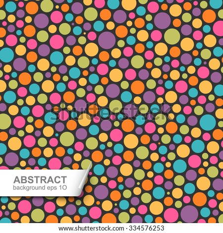 Abstract colorful dotted background. Global colors - easy to change. - stock vector