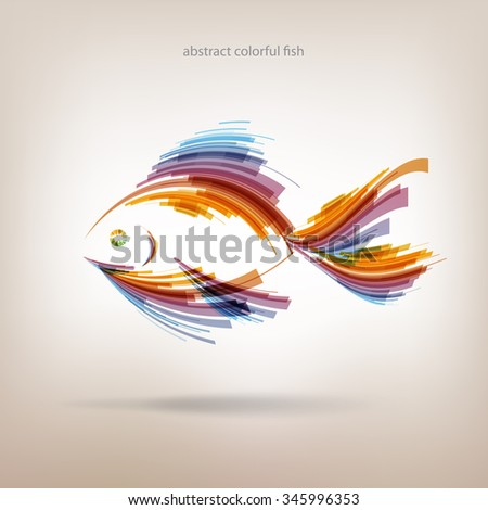 Abstract colorful fish - stock vector