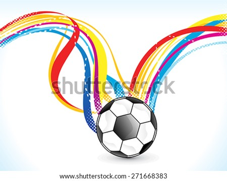 abstract colorful football background vector illustration - stock vector