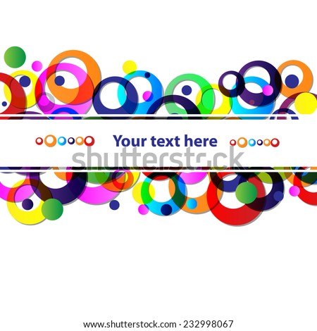 abstract colorful frame for your text - stock vector