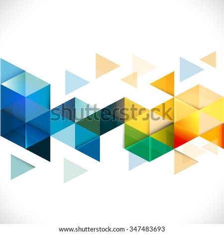 Abstract colorful geometric modern template for business or technology presentation, vector illustration - stock vector