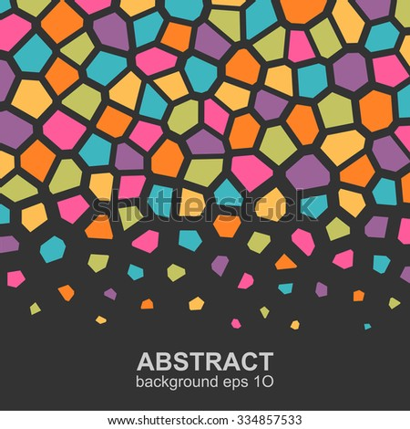 Abstract colorful geometric pattern. Global colors - easy to change. - stock vector