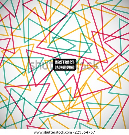 abstract colorful geometric triangles on the gray background. vector illustration eps10 - stock vector