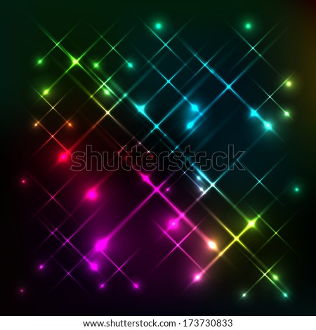Abstract colorful glow background - stock vector