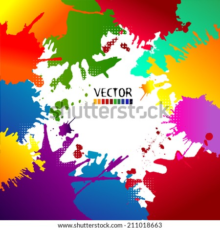 Abstract Colorful Grunge Background. Vector - stock vector