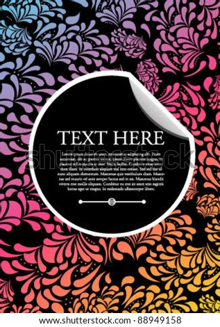 Abstract Colorful Invitation Card - stock vector