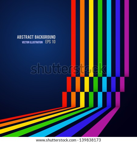 Abstract colorful line background. Vector illustration. Can be used for your business presentations - stock vector