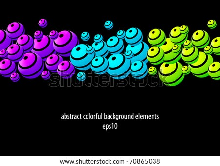 Abstract colorful modern orb design elements (eps10) - stock vector