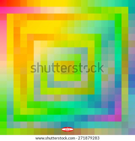 abstract colorful mosaic background for design. rainbow grid. vector illustration - stock vector
