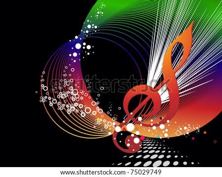 abstract colorful musical concept background, vector illustration - stock vector