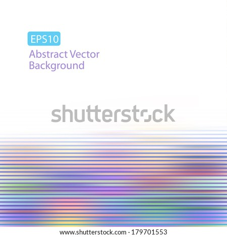 Abstract Colorful Pastel Horizontal Motion Lines EPS10 Background. Plenty of space for text. Perfect for any communication art. - stock vector