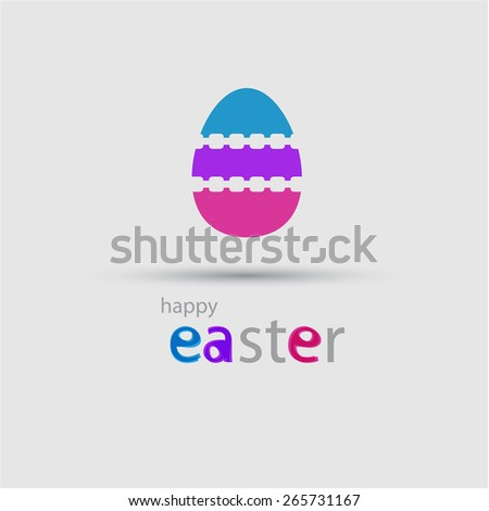 Abstract colorful pattern egg design, eps10 Vector. - stock vector