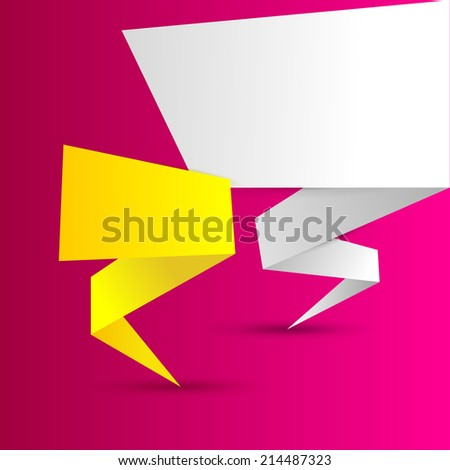 Abstract colorful polygonal origami banners vector illustration - stock vector