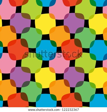 Abstract colorful seamless pattern. - stock vector