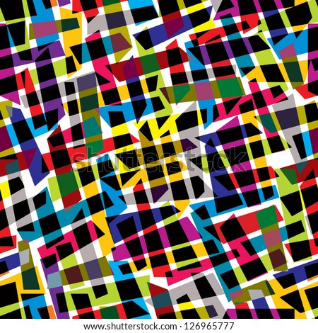 Abstract colorful seamless pattern, vector background. - stock vector
