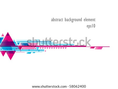 Abstract colorful shiny shape background (eps10) - stock vector