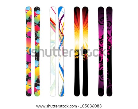 abstract colorful skies template vector illustration - stock vector