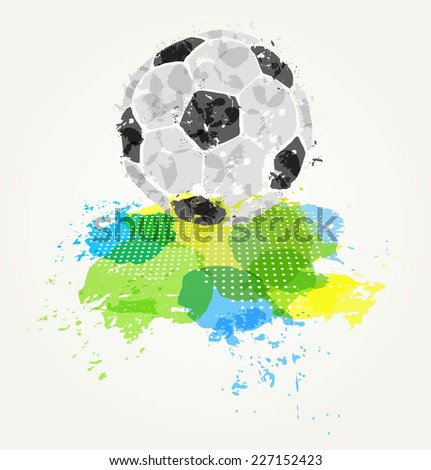 Abstract colorful soccer ball on bright background - stock vector