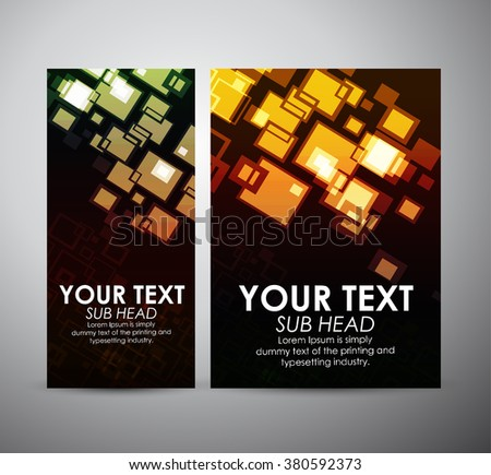 Abstract colorful squares. Graphics resources design template. Vector illustration - stock vector