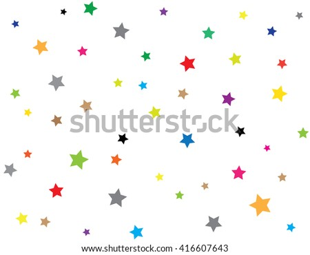 Abstract colorful Stars patterned - stock vector