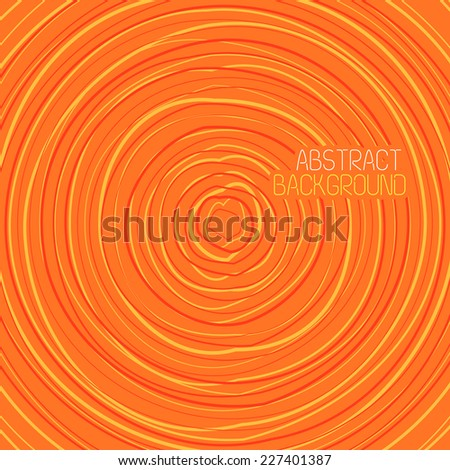 Abstract Colorful Swirly Circle Illustration - stock vector