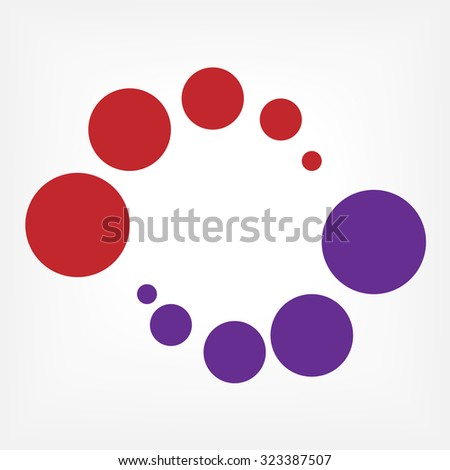 abstract colorful swirly illustration, logo design. - stock vector
