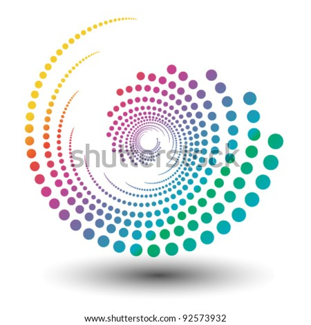 abstract colorful swirly illustration, logo design - stock vector