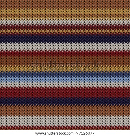 Abstract colorful textured weaving fabric background. Seamless pattern. Vector. - stock vector