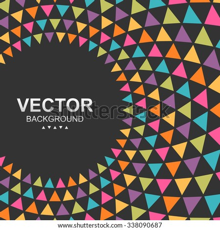 Abstract colorful triangle background. Global colors - easy to change. - stock vector
