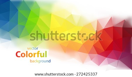 Abstract colorful triangle shaped vector background - stock vector