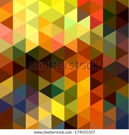 Abstract colorful triangles background - stock vector