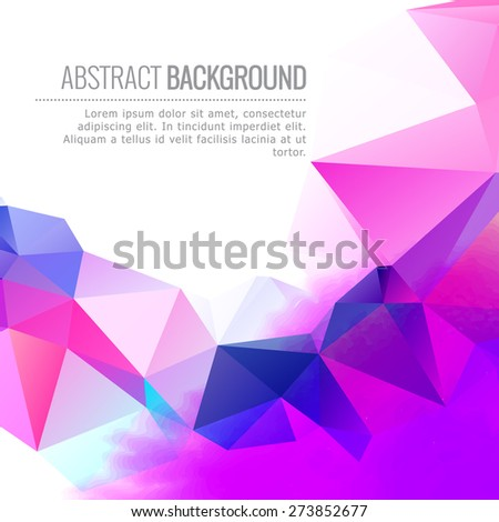 abstract colorful vector design background illustration - stock vector