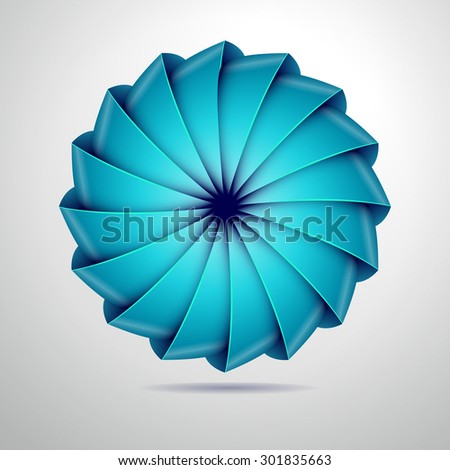 Abstract colorful vector object - stock vector
