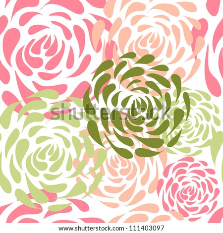 Abstract colorful vintage retro floral seamless pattern - stock vector