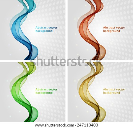 Abstract colorful wave - stock vector