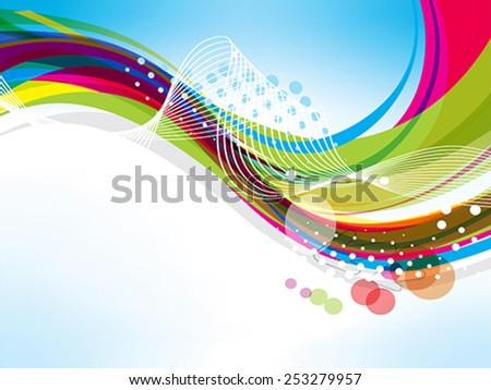 abstract colorful wave background with arrow Vector illustration  - stock vector