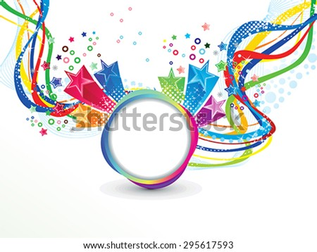 abstract colorful wave explode vector illustration - stock vector