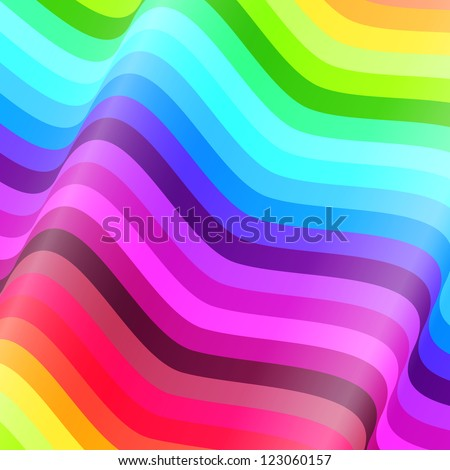 Abstract colorful waves vector background - stock vector