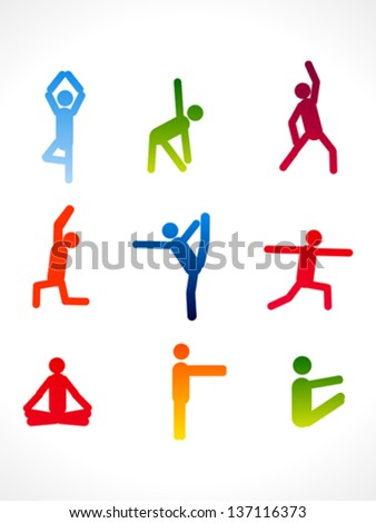 abstract colorful yoga angles vector illustration - stock vector