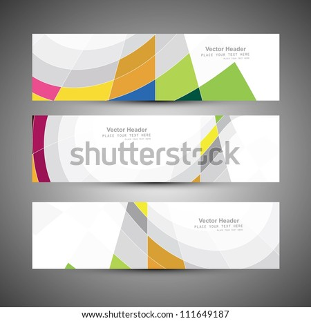 Abstract colorfull header mosaic wave vector design illustration - stock vector