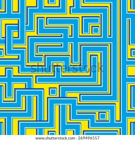 Abstract colorl seamless pattern resembling a maze. - stock vector